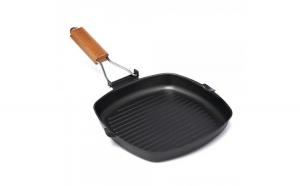 Tigaie grill cu maner detasabil, Vanora Delis, 24 x 3.5cm