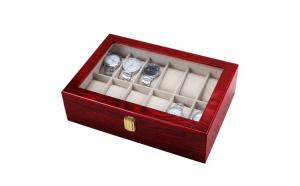 Cutie caseta din lemn pentru depozitare si organizare 12 ceasuri, model Premium