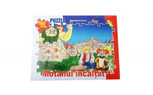 Puzzle Motanul incaltat 100 piese ,