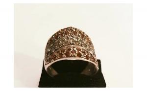 Inel din Argint, decorat cu Zirconii colorate si transparente - masura 23