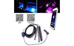 Lumina interior 4 benzi APP Control cu muzica de control 18LED
