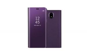 Husa compatibila Samsung Galaxy J7 2017 Book Clear View Standing Cover (Oglinda) Mov Purple