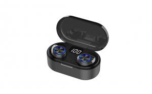 Casti TWS80, Touch, Bluetooth 5.0+EDR, IPX-4, IOS, Android, cutie cu fixare magnetica si baterie, apeluri, muzica