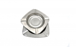 Set 2 scrumiere metal, 12/12 cm
