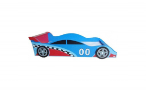 Pat cu cadru din lemn Racing Car