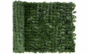 Gard artificial cu frunze verzi, 100 x 300 cm