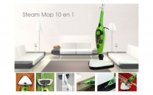 Steam max -Mop cu aburi + 10 accesorii, la 298 RON in loc de 599 RON