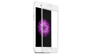 Folie sticla 3D, Apple iPhone 7, Ecran complet, Alb