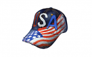 "Sapca baseball MBrands din bumbac "" USA "" denim"