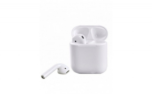 Casti stereo 12 TWS, Bluetooth, Wireless, microfon incorporat, alb