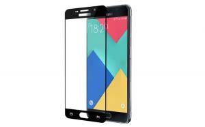 Folie sticla, Full screen, Samsung A3 2016, Acopera tot ecranul, Negru