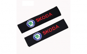 Set 2 Huse pentru centura de siguranta SKODA,premium