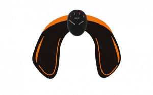 Dispozitiv tonifiere musculara, pentru coapse sau fese, cu electrostimulare EMS cu telecomanda