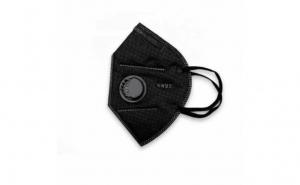 Set de 5 Masti de protectie N95 FFP2 KN95 Valva respiratorie Negru