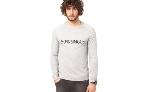 Bluza gri, barbati, 50% Single