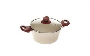 Oala ceramica Hausberg cu diametru 22 cm  + Set 3 piese cutite inox - cadou