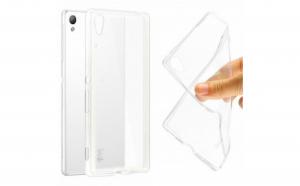 Husa compatibila Sony Xperia M4 Aqua Tpu 0.3 mm, transparent