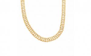 Colier cu zale din aur galben 21K, PAU11