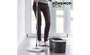 Mop rotativ cu galeata Kong Mop Iron, la doar 159 RON in loc de 318 RON