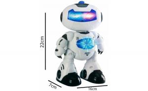 Robot de jucarie Agent Bingo 06,cu telecomanda ,canta si danseaza 7x16x22 cm