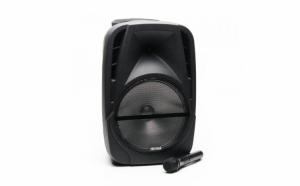 Boxa Portabila Freeman Karaoke 1001 + Microfon, Telecomanda Bluetooth USB SD Negru