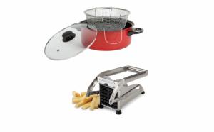 Set pentru cartofi: Friteuza + feliator