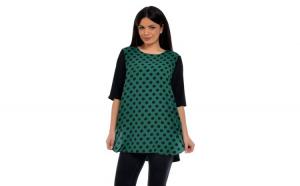 Tunica Dama verde cu buline