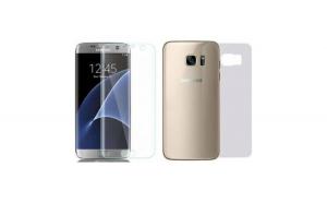 Folie Plastic Samsung Galaxy S7 Edge Flippy Fata-Spate Transparent