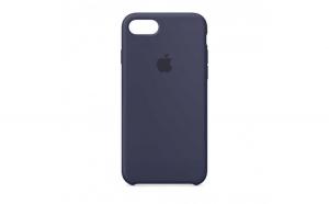 Husa iPhone 7 Plus   8 Plus Bleumarin Carcasa Silicon Premium Slim Logo
