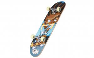 Skateboard din lemn, RCO, PVC, 78,5 cm, Aluminiu, HB2004E