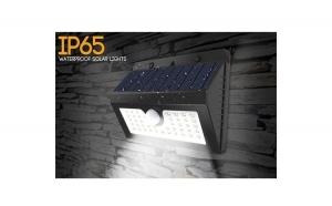 Lampa solara LED de perete cu senzor de miscare si lumina 20 de leduri
