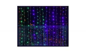 Instalatie de Craciun tip Perdea, 3X3 metri, 320 Led-uri, Multicolor