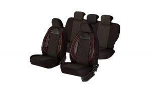 Set huse scaun racing negru