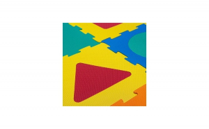 Puzzle podea cu forme geometrice