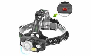 Lanterna frontala pentru cap cu 4 surse luminoase si zoom, BL-T44