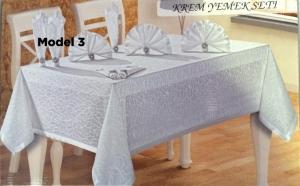 Set fata de masa cu 12 servetele si inele elegant, la numai 119 RON in loc de 259 RON