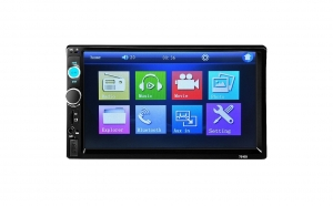 "Mp5 player auto 7010b, 2 DIN, Touch screen 7"", Bluetooth, USB, format video 1080P, negru"