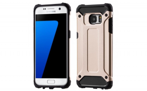 Husa Hybrid Armor Tough Rugged pentru Samsung Galaxy S7 Edge G935 gold