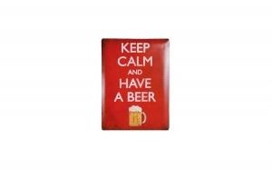 Semn de Metal Keep Calm and Have a Beer 30 x 40 cm la 29 RON in loc de 60 RON