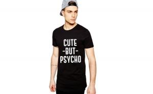 Tricou negru barbati - Cute but PSYCHO
