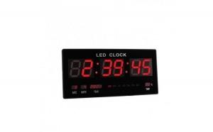 Ceas slim LED de perete cu calendar, alarma si termometru