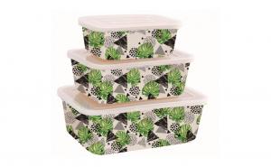 Set 3 cutii pentru depozitare