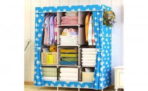 Dulap textil depozitare haine, multicompartimentat