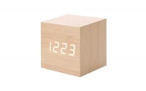 Ceas digital lemn, functie alarma, LED