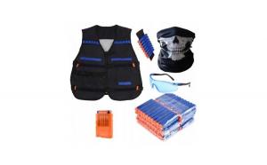 Set de joaca cu accesorii Nerf pentru copii, albastru/portocaliu