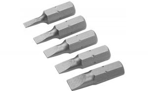 Set de varfuri de surubelnita din 2 bucati combinate din 5 bucati, SL3.0, 4.0, 4.5, 5.5, 6.5 x25 mm, S2 (Industrial)