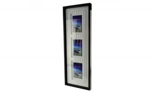 Rama foto tripla Mallry, format 10x15, lemn, Negru