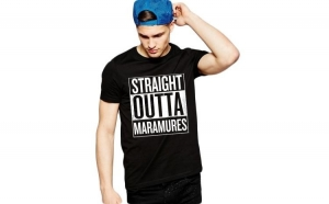 Tricou negru barbati - Straight Outta Maramures