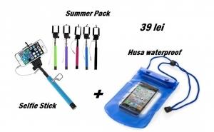 Set Selfie Stick + Husa waterproof