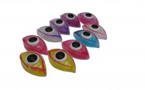 Set 10 gelatina ochi, multicolora
